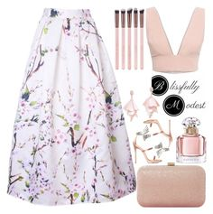 """March Bloom - BM 8"" by egordon2 ❤ liked on Polyvore featuring Animale, Dune, Giuseppe Zanotti, Guerlain and Oscar de la Renta Pink Label"