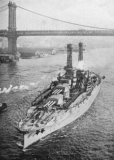 Arizona in the East River New York City circa mid-1916.