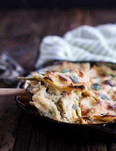 Quick and Simple Springtime Skillet Lasagna with a Mediterranean Kick. - Half Baked Harvest