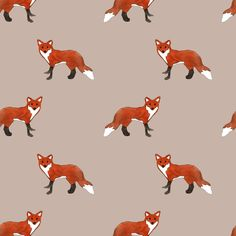 Fox by abby galloway Motifs Textiles, Textile Prints, Textile Patterns, Cool Patterns, Print Patterns, Fox Pattern, Pattern Art, Pattern Design, Galloway