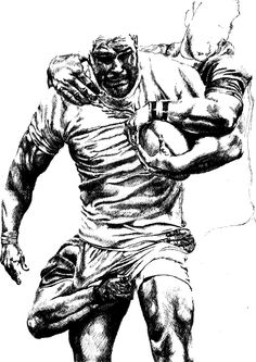 rugby player drawing | nick easter rugby player by laltoofan traditional art drawings people ...
