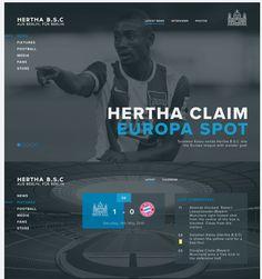 Hertha Berlin | Identity, Digital Design | Liam Henderson Fan Store, Project, Berlin, Identity, Digital, Design, Finals, Hertha Bsc