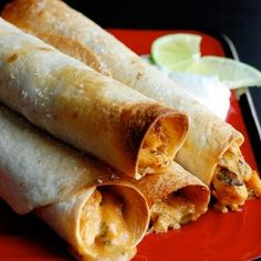 Baked Creamy Chicken Taquitos - deliciously perfect for freezing!