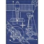 Momeni Lil Mo Hipster Aero Navy Blue 3 ft. x 5 ft. Indoor Kids Area Rug LMOTWLMT16NVY3050 at The Home Depot - Mobile