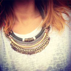 Statement necklace By Cuca #statement #maxicolar #statementnecklace maxicolares statementnecklace