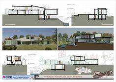 Casa Moebius. Secciones Un Studio, Revit, Cube, Floor Plans, Architecture Diagrams, Planes, Drawing, Building Information Modeling, Arquitetura