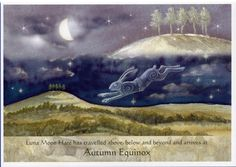 Luna Moon Hare At The Autumn Equinox