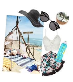"""""""Beach day"""" by julia-alonso on Polyvore featuring New Look, Charlotte Russe, Yves Saint Laurent, COOLA Suncare and Urban Decay"""