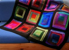 Stained glass-style blanket