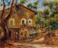 Pierre Auguste Renoir (1841-1919) - Maison de Collettes en Cagnes - 1912 - Museo Soumaya, Mexico City