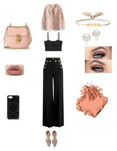 """Untitled #35"" by crinutacrinuta on Polyvore featuring RED Valentino, Alexander McQueen, Chicwish, Chloé, AK Anne Klein, Bobbi Brown Cosmetics and Felony Case"