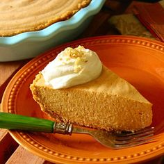 No-Bake Deep-Dish Pumpkin Chiffon Pie  Make this pie the night before to keep day-of prep to a minimum. Simply tuck it away in the refrigerator until it's ready for the dessert table.