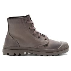 Palladium Pampa Hi Leather   Women's - Gray/Black - FREE SHIPPING at Shoes.com