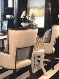#homeoffice #interiordesign #black #white #gold #EWD