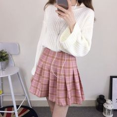CosmoCorner - Plaid Pleated Mini Skirt US$ 13.78