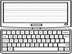 Type and Write laptop printable for word work. Freebie!