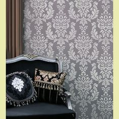 Damask Stencil For Walls Reusable Stencils Elegant Wall Decor