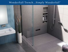 Tile Redi USA. LLC: WonderFall Trench™... Simply Wonderfull!™ - Tile Redi introduces WonderFall Trench™ the only one piece ready-to-tile shower pan on the market today with an integrated linear trench with an Infinity Shower Floor™ offering tileable grate. WonderFall Trench™ provides the perfect marriage of function and design. WonderFall Trench™... Simply Wonderfull!™  Visit our booth 1828 to see our exciting new innovative products.
