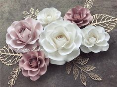 Turn around time is 3-5 weeks. Feel free to message me if you would like something sooner. This set of paper roses is beautiful and delicate and will look beautiful as decoration for your baby shower, bridal shower, baby's nursery or as wall decor. This set includes 6 paper roses