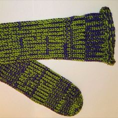 OLIVE GREEN AND PURPLE HANDMADE TUBE SOCKS #socks