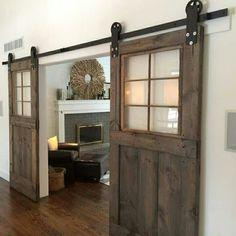 sliding bard wood doors