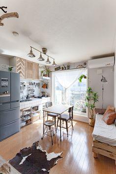 100均&流木リメイクがいっぱい!DIYクリエイターrkmamaさんお宅拝見 ... 自然の気配を感じさせるリビング・ダイニング・キッチン