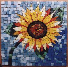 Mosaic Sunflower #vintagemaya #mosaic #handcraft #sunflower #decor