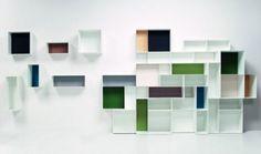 Alma a parete, libreria design Studio63 per Casamania   lartdevivre - arredamento online