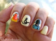 "25 Insanely Cool Nail Art Designs Inspired By Books ""Eleanor & Park"" by Rainbow Rowell #sccld"