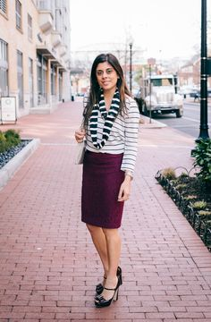 Style Tip: The key to wearing lots of stripes is to vary the widths.    STYLE'N