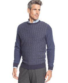 Geoffrey Beene Plaited Basketweave Sweater