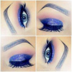 sparkly blue #eyeshadow