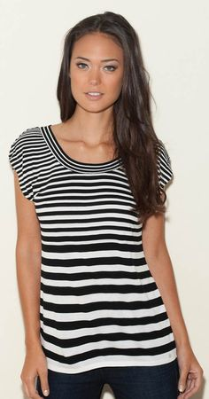 GUESS Kayla Striped Top - Front View