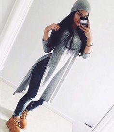 Image about fashion in Moda by zelenia on We Heart It Tomboy Fashion, Fashion Mode, Fashion Killa, Look Fashion, Fashion Outfits, Daily Fashion, High Fashion, Fashion Online, Mode Timberland