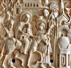 Flight into Egypt -  Salerno Museo diocesano.  Salerno ivories - avori salernitani   #TuscanyAgriturismoGiratola