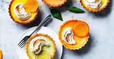 Using in-season lemon, lime and grapefruit, you can't go past these deliciously easy mini tarts topped with creamy meringue.
