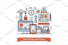 Web designing and coding. UI Elements