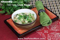 Chunky Dairy-free No-tato Leek Soup   The Paleo Mom