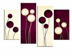 Large Brown Cream Abstract Canvas Picture Wall Art Split Multi 4 panel set in Art, Canvas/ Giclee Prints Multi Canvas Painting, Diy Canvas Art, Canvas Art Prints, Canvas Wall Art, Canvas Paintings, Canvas Canvas, Multi Canvas Art, Large Canvas, Red Wall Art