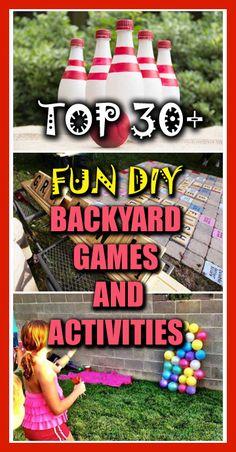 Top Fun DIY Backyard Games and Activities Backyard Games, Outdoor Games, Outdoor Fun, Fun Games, Games For Kids, Activities For Kids, Kids Fun, Minis, Outside Games