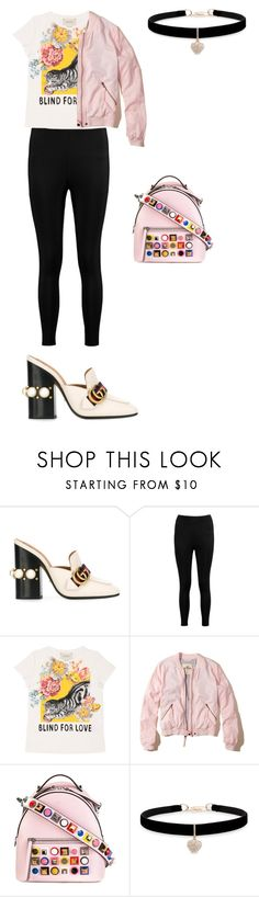 """""""Gucci embellished shoes"""" by dazzlers ❤ liked on Polyvore featuring Gucci, Boohoo, Hollister Co., Fendi and Betsey Johnson"""