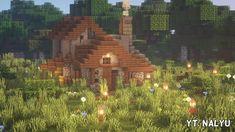 Minecraft Building Blueprints, Minecraft House Plans, Minecraft Farm, Minecraft Cottage, Minecraft Castle, Minecraft Medieval, Cute Minecraft Houses, Minecraft House Designs, Minecraft Construction