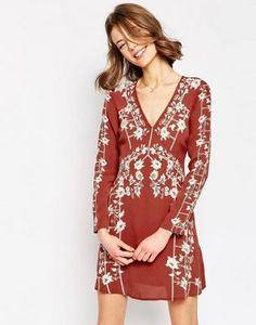 ASOS Garden Trellis Embroidered Dress