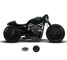 Uma Harley Davidson inspirada nos clássicos toca-discos Technics