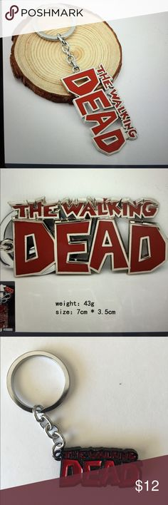 The Walking Dead Unisex Keychain /New Great colorful metal keychain for the Walking Dead fans!!!....comes with a nice gift box (only in red and black ) The Walking Dead Accessories Key & Card Holders