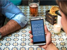New Android Mockup! Couple Having a Beer Using HTC One. Try it here: https://placeit.net/#!/stages/android-mockup-template-of-couple-having-a-beer