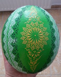 Pštrosí kraslice ( Ostrich eggs decorated with wax)