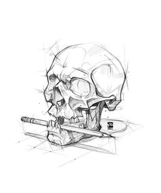 ArtStation - Skull + Pencil, psdelux ...
