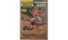 Classics Illustrated Comics.  Featuring stories by the World's Greatest Authors. Pitcairn's Island by Nordhoff and Hall.  #109.  HRN (Highest Reorder Number) found on the back cover is (HRN167).  March 1964.  Published by Gilberton Company.  Comic book adaptation of the classic detective story by Sir Arthur Conan Doyle that introduced Sherlock Holmes and Dr. John Watson to the world.    Condition:  fine/very good (some discoloration due to age, colors are bright inside)