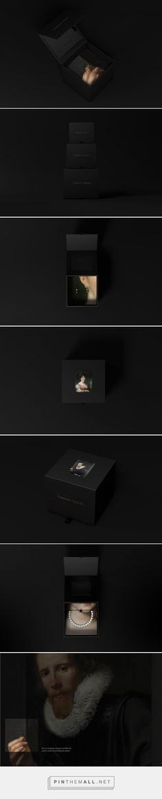 "You could actually ""own"" that piece of jewelry in famous paintings - Rijksstudio Award packaging design by David & Vsevolod - http://www.packagingoftheworld.com/2017/07/rijksstudio-award-concept.html"